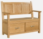 Siena Oak Monk s Bench