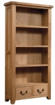 Suffolk Oak bookcase with drawers