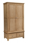 Dorset Oak Double Wardrobe with 2 Drawers