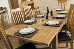 Milano Oak Large Extending Table with 6 Milano Oak chairs