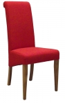 New Oak Dark Orange Fabric Dining Chair