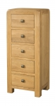 Avon Oak 5 Drawer Tall Chest
