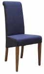 New Oak Blue Fabric Dining Chair