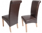 Oxford Leather Dining Chair - Brown