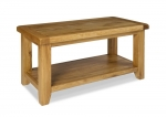 North Bay Oak Coffee Table with Shelf