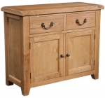 Suffolk Oak 2 door 2 drawer sideboard