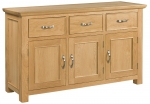 Siena Oak 3 Door 3 Drawer Sideboard