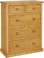 Chunky Pine 2 over 3 jumper chest of drawers