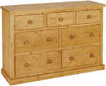 Chunky Pine 3 over 4 jumper chest of drawers