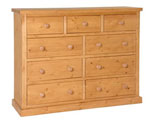 Chunky Pine 3 over 6 chest of drawers