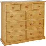 Chunky Pine 3 over 6 jumper chest of drawers