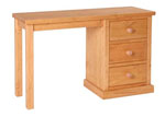 Chunky Pine single pedestal dressing table