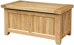 Chunky Oak Blanket Box