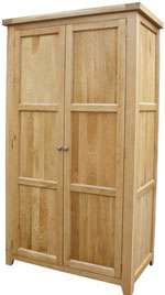 Chunky Oak Double Full Hanging Wardrobe