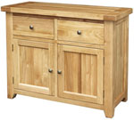Chunky Oak 2 Door 2 Drawer Sideboard