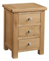 Dorset Oak 3 Drawer Bedside