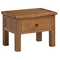 Dorset Oak Rustic Side Table with Drawer