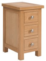 Dorset Oak Narrow 3 Drawer Bedside