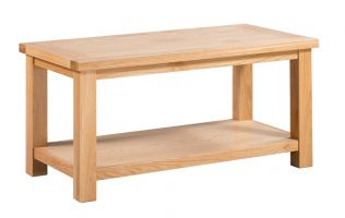 Dorset Oak Large Coffee Table with Shelf