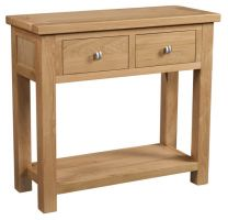 Dorset Oak 2 Drawer Console Table