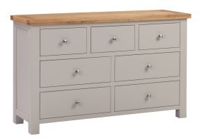 Dorset Putty 3 over 4 Chest of Drawers