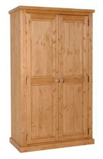 Chunky Pine ladies double full hanging wardrobe