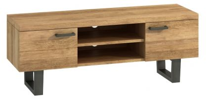 Warehouse Oak Large TV Unit