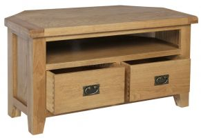 Thumbnail Hereford Oak Corner TV Cabinet