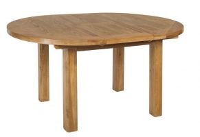 Thumbnail Hereford Oak Round Extending Dining Table