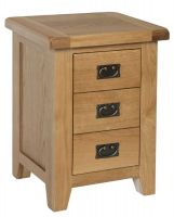 Hereford Oak 3 Drawer Bedside