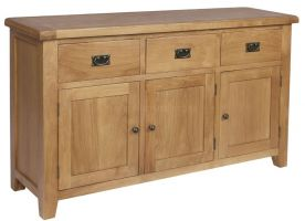 Hereford Oak 3 Door 3 Drawer Sideboard
