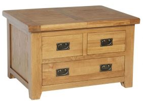 Hereford Oak Small Storage Coffee Table with Drawer