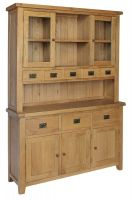 Hereford Oak Glazed Dresser