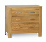Milano Oak 3 Drawer Chest