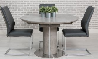 Thumbnail Manhattan 1.2m - 1.6m Round Extending Dining Table with 4 Chairs