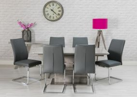 Manhattan 1.6 m Dining Table and 4 Chairs