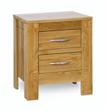 Milano Oak 2 drawer Bedside Chest