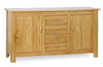 Milano Oak 2 Door 4 Drawer Sideboard
