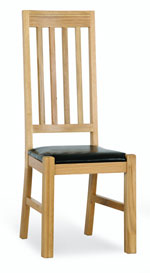 Milano Oak Dining Chair Leather Seat