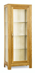 Milano Oak Glass Display Cabinet
