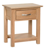 New Oak 1 drawer bedside - night stand