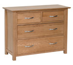 New Oak 2 over 2 chest of drawers