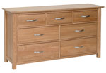 New Oak 3 over 4 chest of drawers
