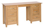 New Oak double pedestal dressing table