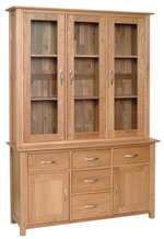 New Oak 4 6  Glazed Dresser