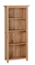 New Oak 5  narrow bookcase