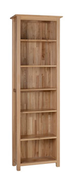 New Oak 6  narrow bookcase