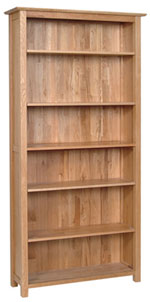 New Oak 6  bookcase