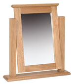New Oak dressing table single mirror