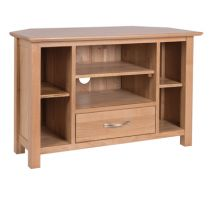 New Oak corner TV unit